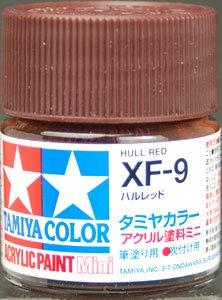 タミヤカラー アクリルミニ XF-9 ハルレッド つや消し