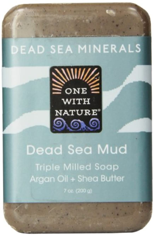 曲がった放射性八百屋One With Nature Dead Sea Mud Soap 200 g (並行輸入品)