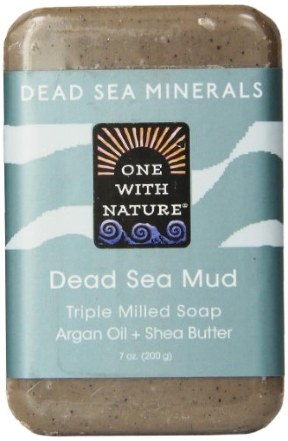 リズム廃止マウントバンクOne With Nature Dead Sea Mud Soap 200 g (並行輸入品)