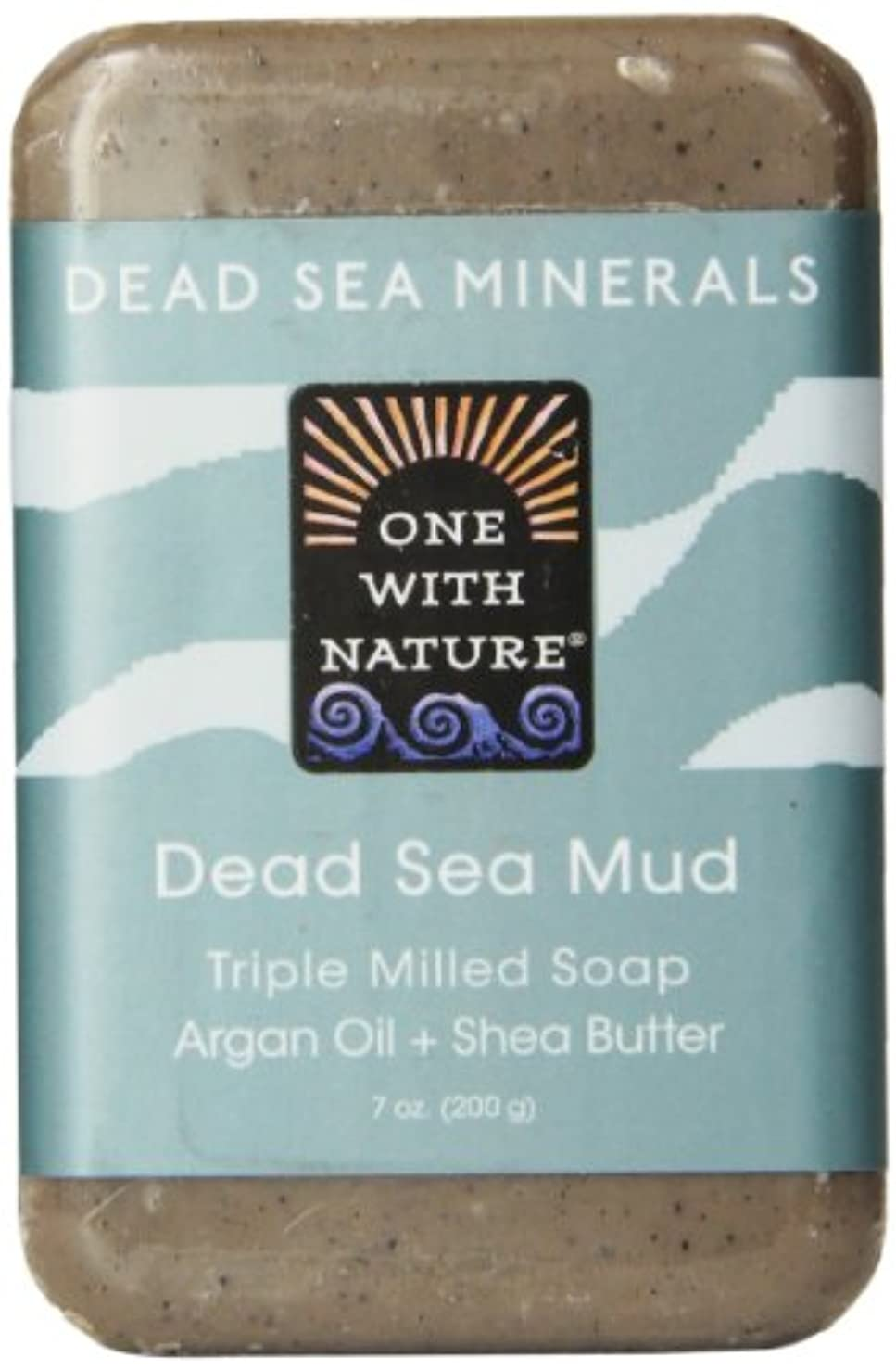リビジョン議論する楽観One With Nature Dead Sea Mud Soap 200 g (並行輸入品)