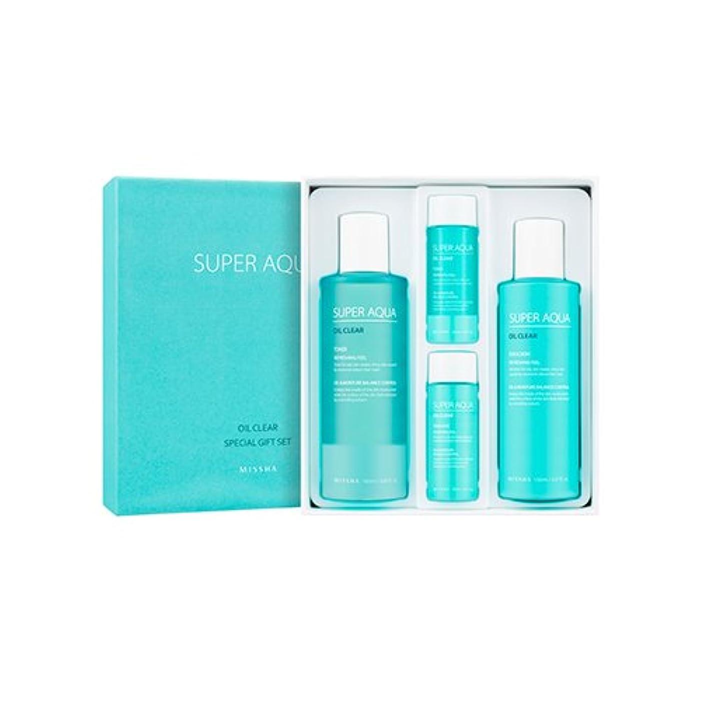 ラッシュ雪だるまを作る頑固なMISSHA Super Aqua Oil Clear Special Gift Set/ミシャ スーパーアクアオイルクリアスペシャルギフトセット [並行輸入品]