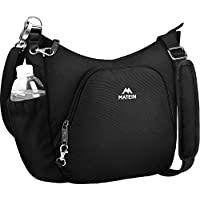 Anti Theft Crossbody Bag for Women, Rfid International Travel Purse with Padded Shoulder Strap, Matein Water Resistant Lightweight Messenger Bucket Bags, Wife Girls Traveler, Black
