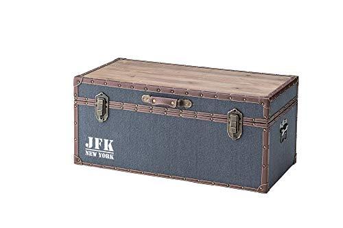 東谷 収納ボックス ボックステーブル トランク 幅81×奥行41×高さ36cm ブルー IW-351