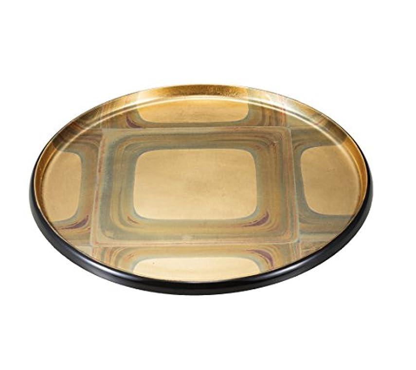 農村習字電気技師箔一 盆 ゴールド 270×270×20mm 古代箔 平安盆 A161-01009