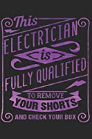 ELECTRICIAN NOTEBOOK: Electrician Notebook The Perfect Gift Idea for Electrician or Electrician. The paperback has 120 white pages with dot matrix that assist you in writing or sketching.