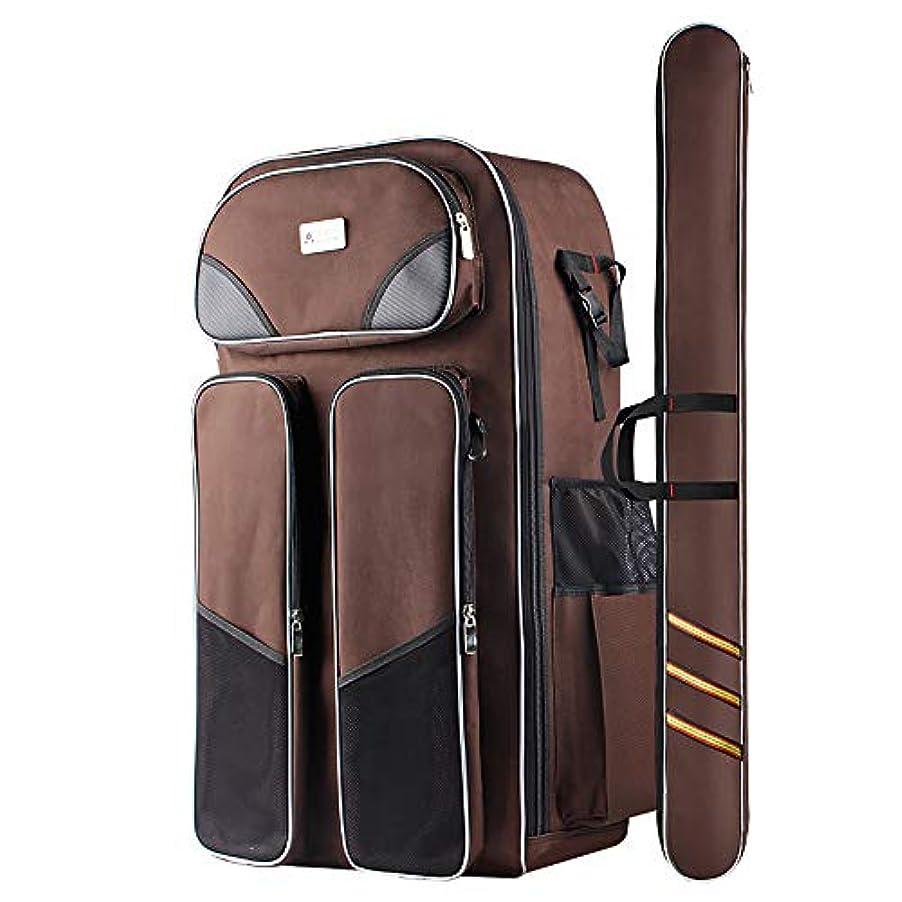 反響する狂ったオンスIMIVIO 多機能 5WAY 釣りバッグ フィッシングバッグ 大容量 1680D防水 ロッドケース ツール収納袋 タックルバッグ 肩掛け可能 釣具タックル バッグ ツールバッグ