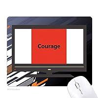 勇気とインスピレーションを与える引用の諺語 ノンスリップラバーマウスパッドはコンピュータゲームのオフィス