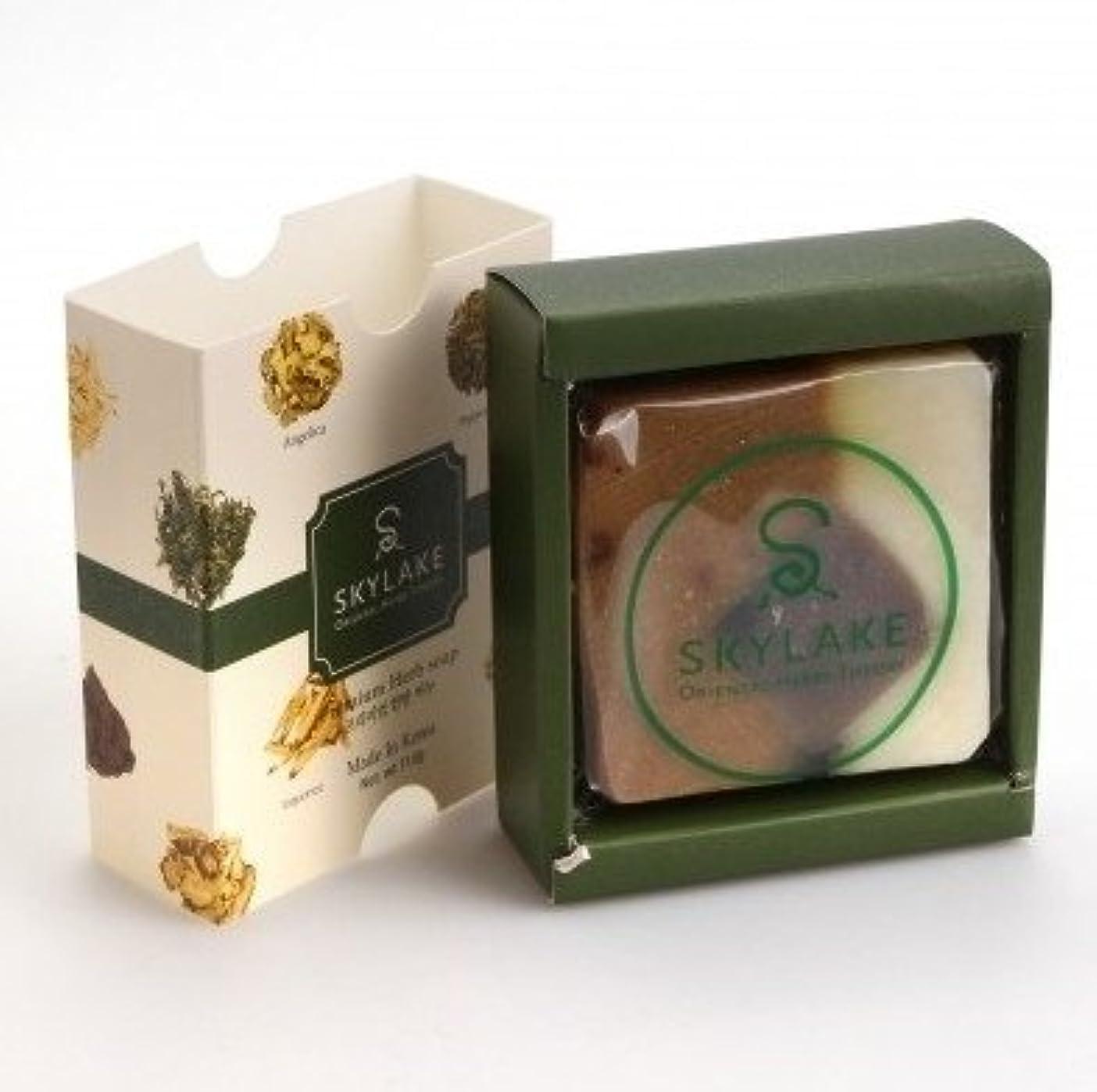 男らしさモンスタールーハヌルホス[Skylake] 漢方アロマ石鹸Oriental Herbs Theory Soap (プレミアム 手作り漢方)