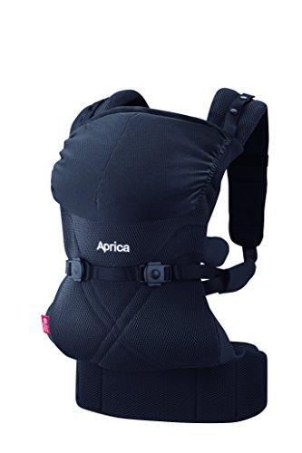 Aprica (アップリカ) 抱っこひも コラン CTS AB リュクス ブラック BK 4WAYタイプ 【疲れにくい腰ベルト & モッチリ肩パッド付】 39571