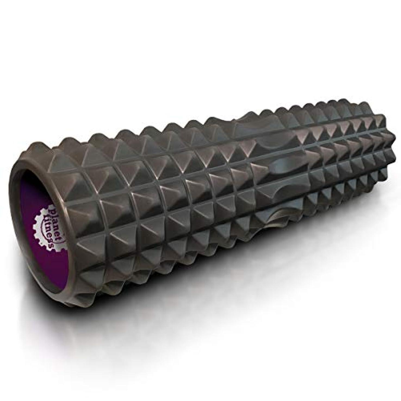 解明餌咲くPlanet Fitness マッスルマッサージャー フォームローラー 深部組織マッサージ 背中 トリガーポイントセラピー グレー
