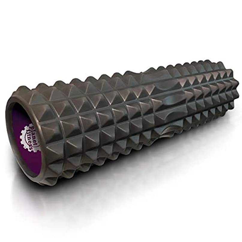 スチュワーデスもっと少なくデュアルPlanet Fitness マッスルマッサージャー フォームローラー 深部組織マッサージ 背中 トリガーポイントセラピー グレー