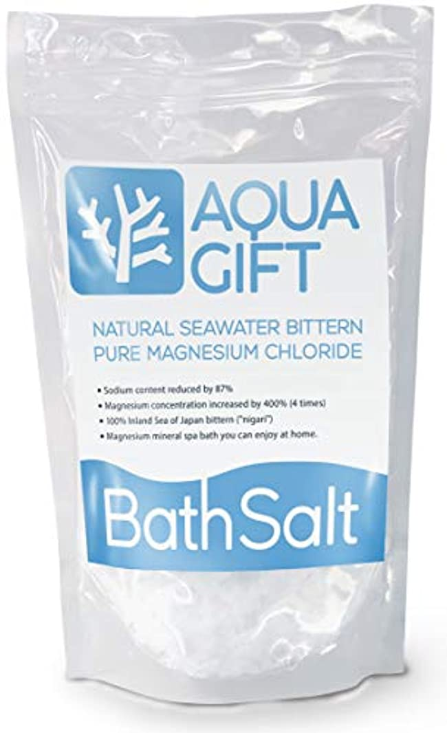 シチリア拡散する範囲入浴剤 バスソルト AQUA GIFT 国産 マグネシウム 保湿 浴用化粧品 30回分 計量スプーン付