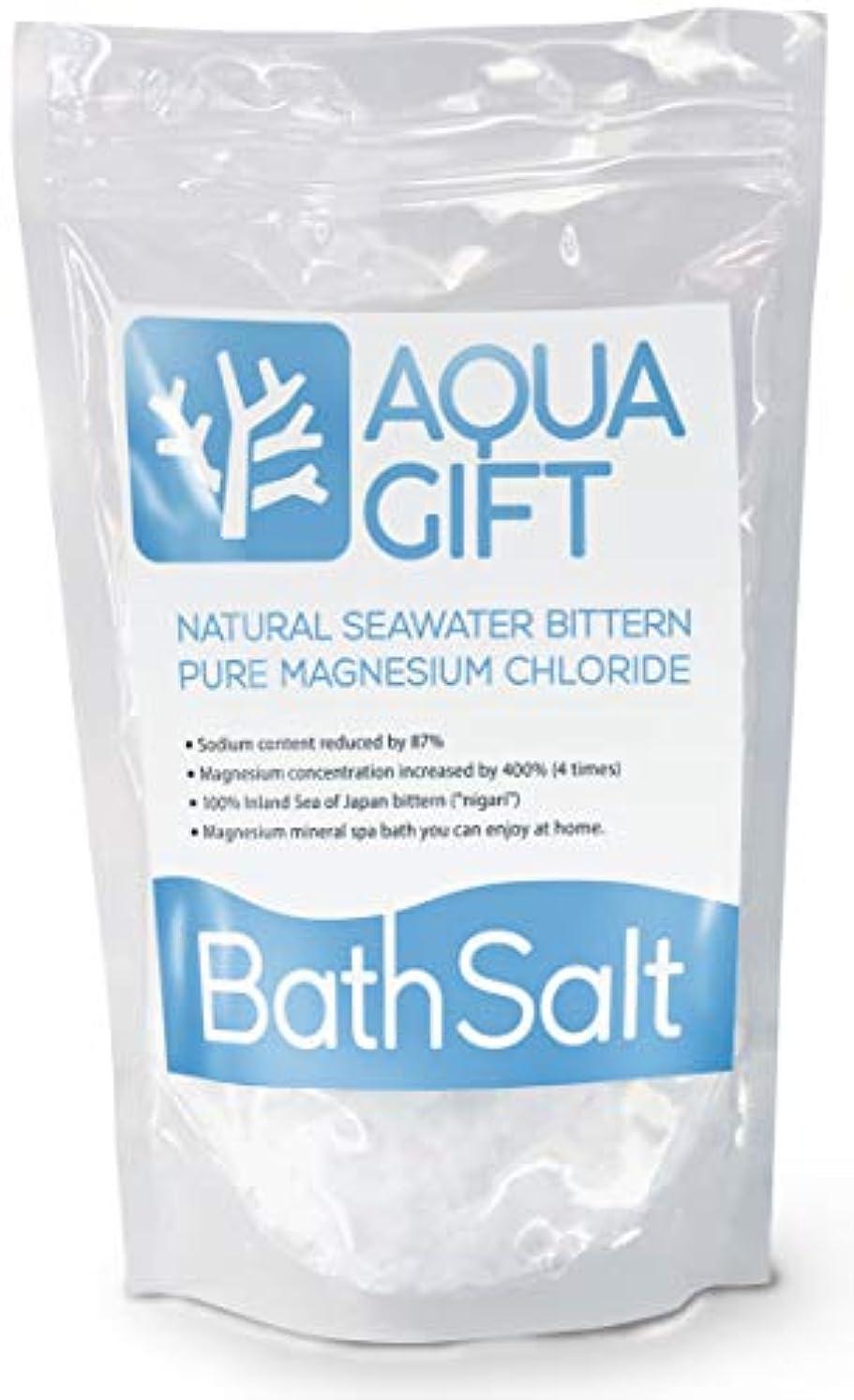 プレフィックス協力する信頼できる入浴剤 バスソルト AQUA GIFT 国産 マグネシウム 保湿 浴用化粧品 30回分 計量スプーン付