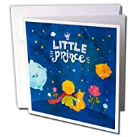 Uta Naumann Sayings and Typography - The Little Prince - Boy and Fox in The Universe 水彩イラスト - グリーティングカード Set of 12 Greeting Cards