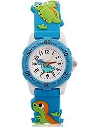 ARIALK キッズ 腕時計 子供 用 ウォッチ ボーイズ 男の子 男子 アナログ 恐竜 時計 卒園 入学祝い (ブルー)