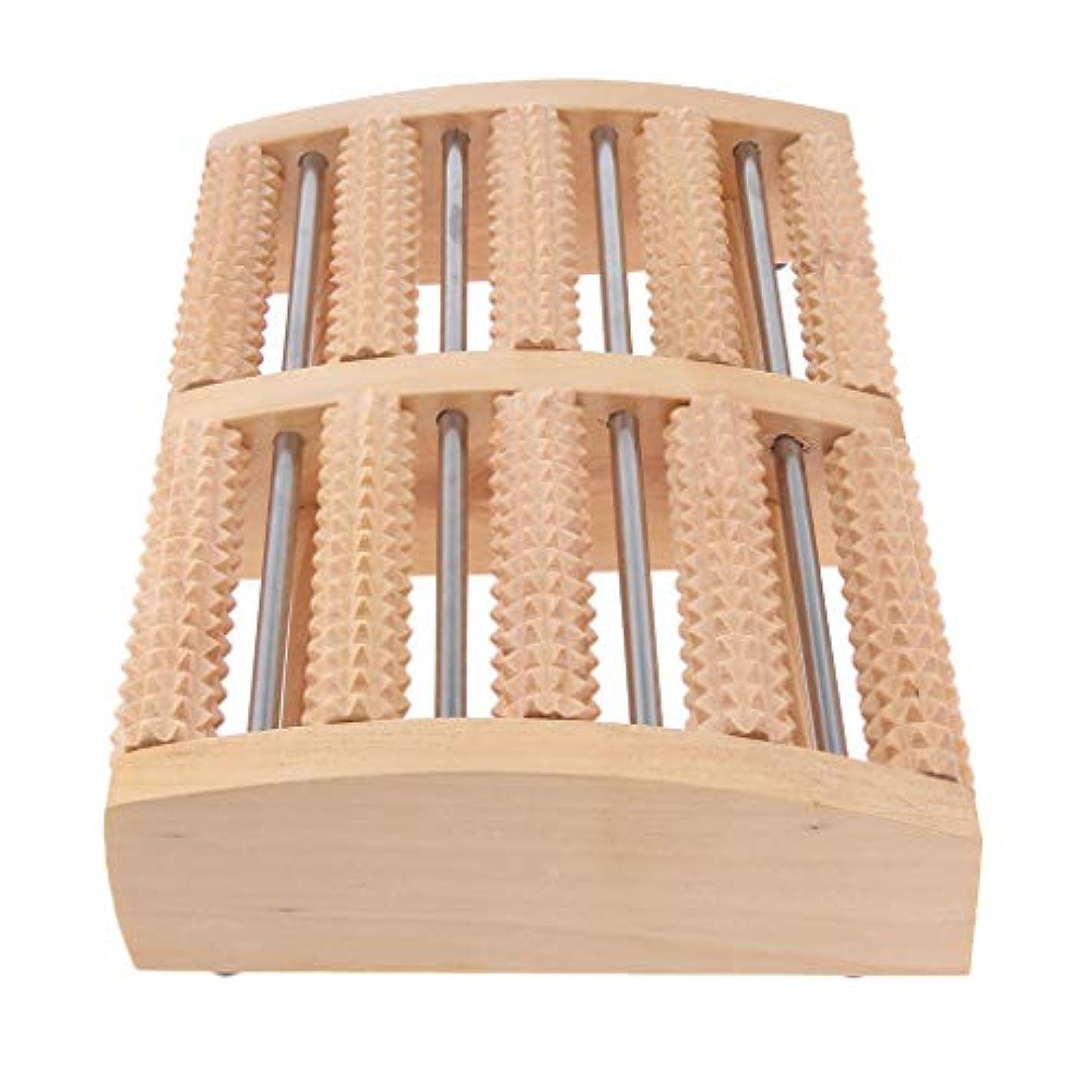 D DOLITY マッサージローラー 工芸 自然木製 足踏み フットローラー ツボ押し リラックス 健康器具 2種選ぶ - 約32×19.8×6cm, 説明したように