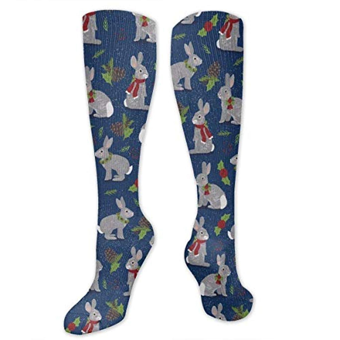 箱寺院アンテナ靴下,ストッキング,野生のジョーカー,実際,秋の本質,冬必須,サマーウェア&RBXAA Holiday Rabbits Socks Women's Winter Cotton Long Tube Socks Knee High...