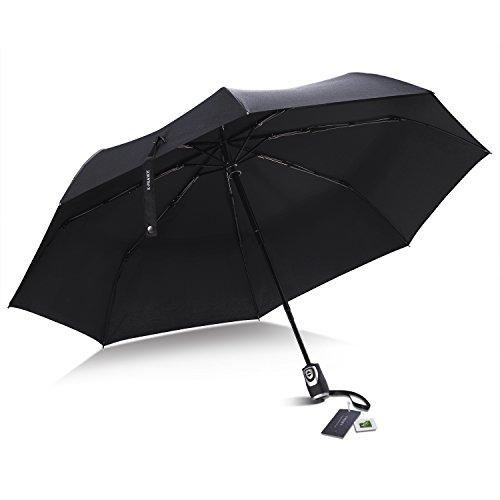 E-PRANCE 折り畳み傘 ワンタッチ自動開閉 210T高強度グラスファイバー 耐風撥水 軽量楽々 収納ポーチ付き (3番)