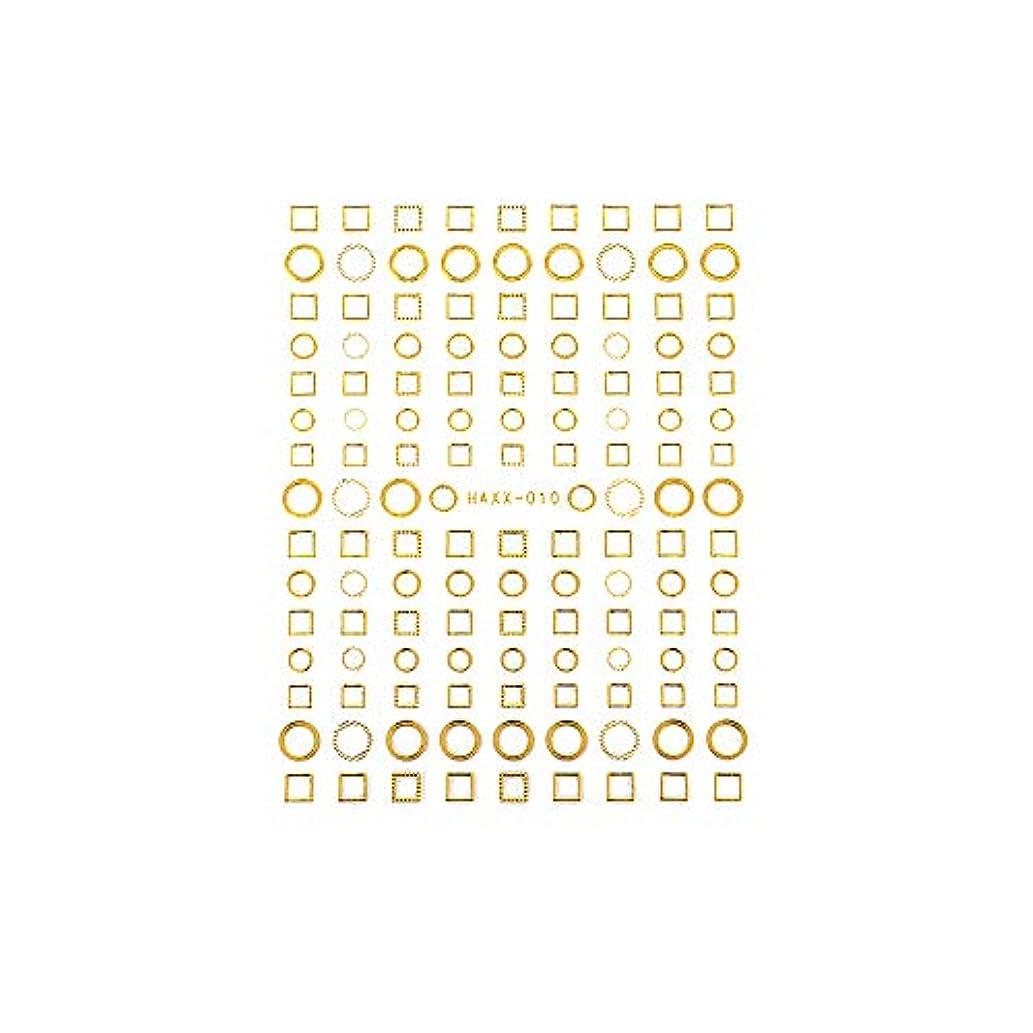 反射大西洋コインランドリーパーツ サークル ラウンド スクエア フレーム くり抜き ネイルシール フレームコレクションシール ゴールド【HAXX-010】