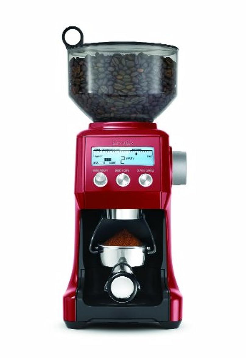 折り目茎終わらせるBreville スマートグラインダー コーヒーマシン レッド BCG800CBXL