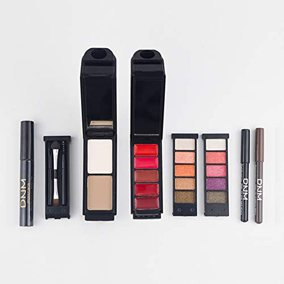 不屈定義するキャップRabugogo 8個/セット女性の化粧品セット口紅+コンシーラー+アイシャドー+アイライナー+マスカラ+アイブロウペンシル