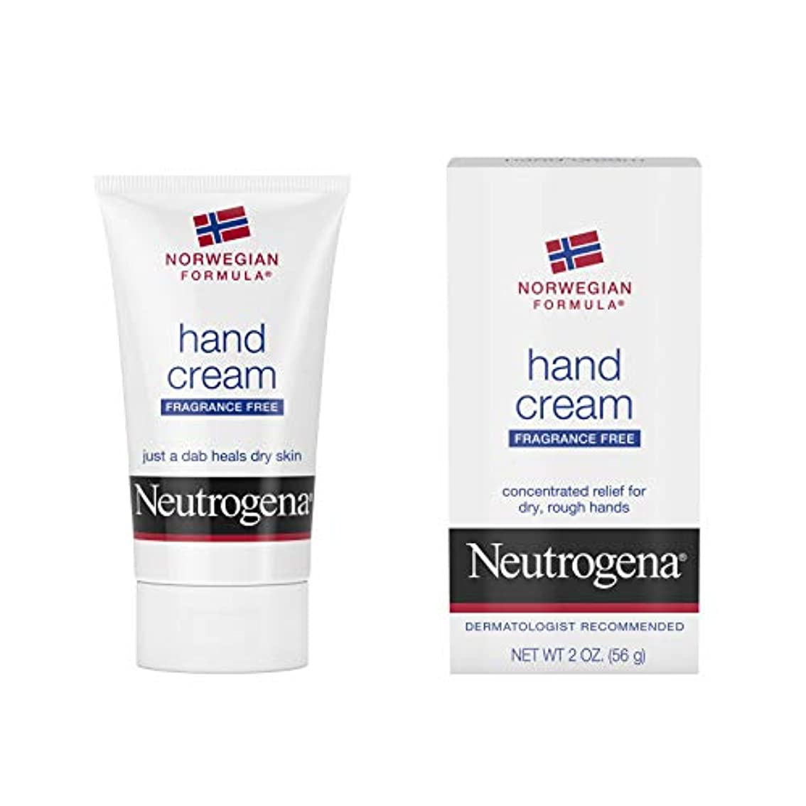 エラー汚す有効Neutrogena Norwegian Formula Hand Cream Fragrance-Free 60 ml (並行輸入品)