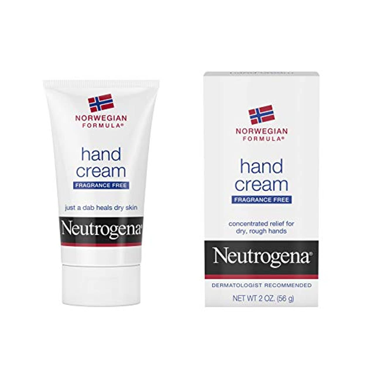 罰化学者植物学者Neutrogena Norwegian Formula Hand Cream Fragrance-Free 60 ml (並行輸入品)