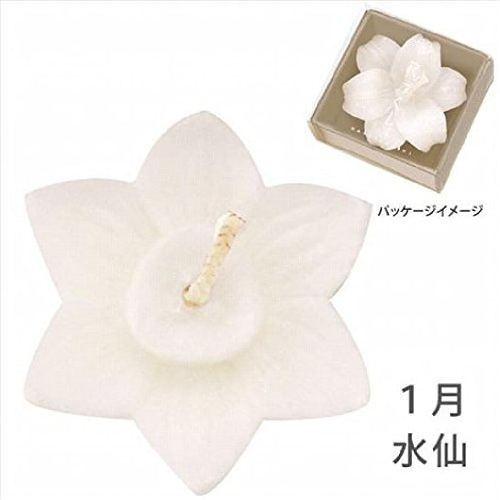聞きますスクリューひそかにkameyama candle(カメヤマキャンドル) 花づくし(植物性) 水仙 「 水仙(1月) 」 キャンドル(A4620530)
