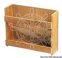 Osculati ARC チーク缶ラック 316x101x254
