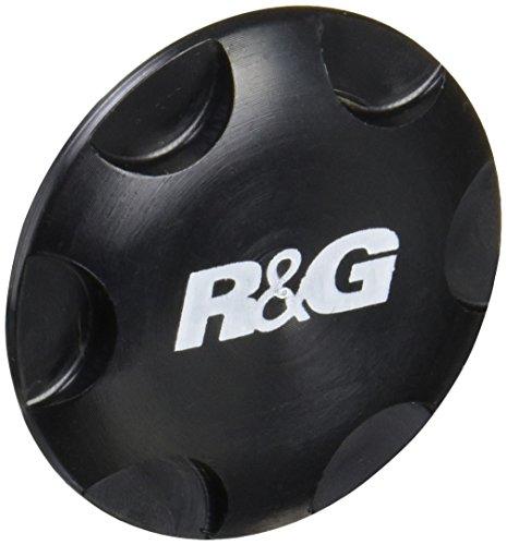 [해외]R &  G (아르 디안) 스티어링 헤드 너트 블랙 NINJA650 (17-10) RG-YTI0008BK/R &  G (R & R) steering head nut black NINJA 650 (17 -) RG - YTI0008BK