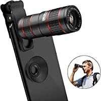 Cell Phone Camera LensVPKID 12X Zoom Telephoto Lens for Smartphone 2 in 1 HD Dual Focus Monocular for Adults Clip on Telephone Lens Kit Compatible iPhone X/8/7/6/6s Plus Samsung [並行輸入品]