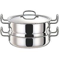 ジオ GEO-25M 蒸し器付鍋 25cm(3.4L) [ Φ250 x H155mm ] 【料理道具 】 【飲食店 レストラン ホテル 厨房 業務用 】