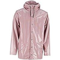 Rains Unisex Holographic Rain Jacket Pink in size Medium/Large