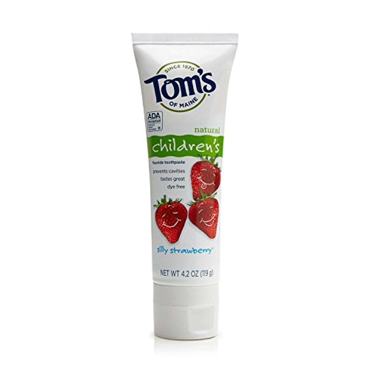 顔料降伏薄暗いTom's of Maine 4.2 oz. Silly Strawberry Natural Children's Anticavity Toothpaste by Tom's of Maine