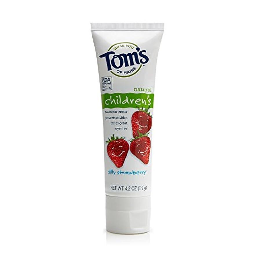 胸サポート敬意を表してTom's of Maine 4.2 oz. Silly Strawberry Natural Children's Anticavity Toothpaste by Tom's of Maine