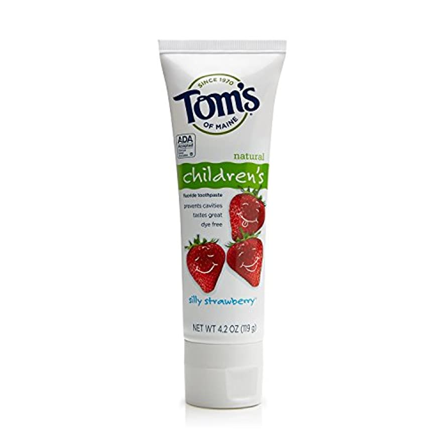 ロッド暴君スケジュールTom's of Maine 4.2 oz. Silly Strawberry Natural Children's Anticavity Toothpaste by Tom's of Maine