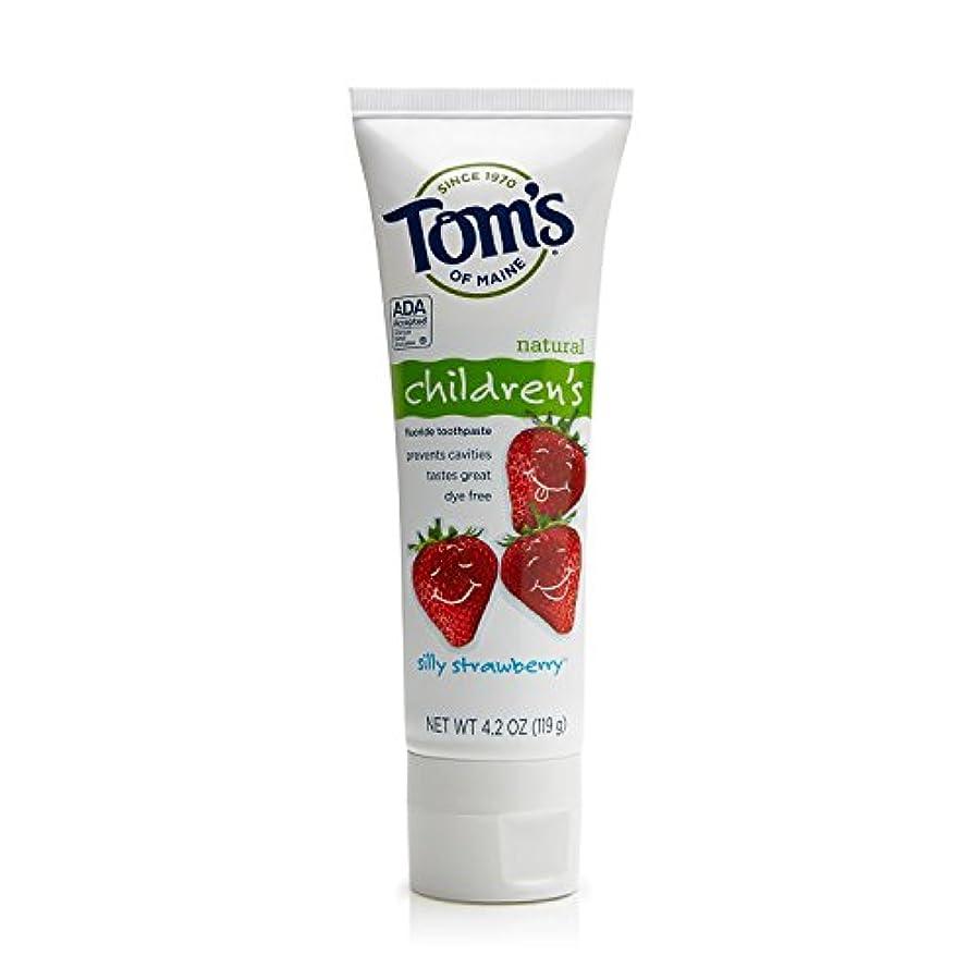 ボールたるみ線形Tom's of Maine 4.2 oz. Silly Strawberry Natural Children's Anticavity Toothpaste by Tom's of Maine