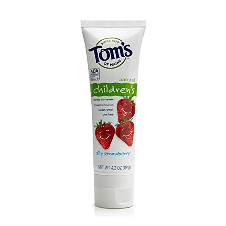 悪魔利用可能然としたTom's of Maine 4.2 oz. Silly Strawberry Natural Children's Anticavity Toothpaste by Tom's of Maine