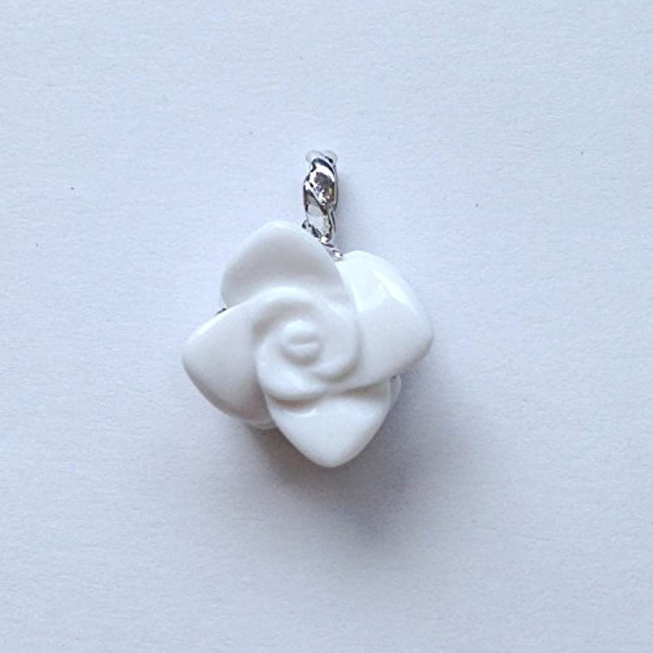 バッジお金ゴム香る宝石SVホワイトメノウペンダント通常¥26,800の所 (Ag925)