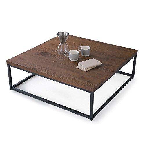 VEGA CORPORATION LOWYA ローテーブル 正方形 ダークブラウン B075FJG3ST 1枚目