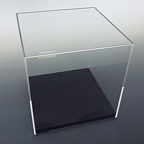 【台座 = かぶせタイプ 黒 13mm】 UVカット透明アクリルケース W450mm H450mm D450mm