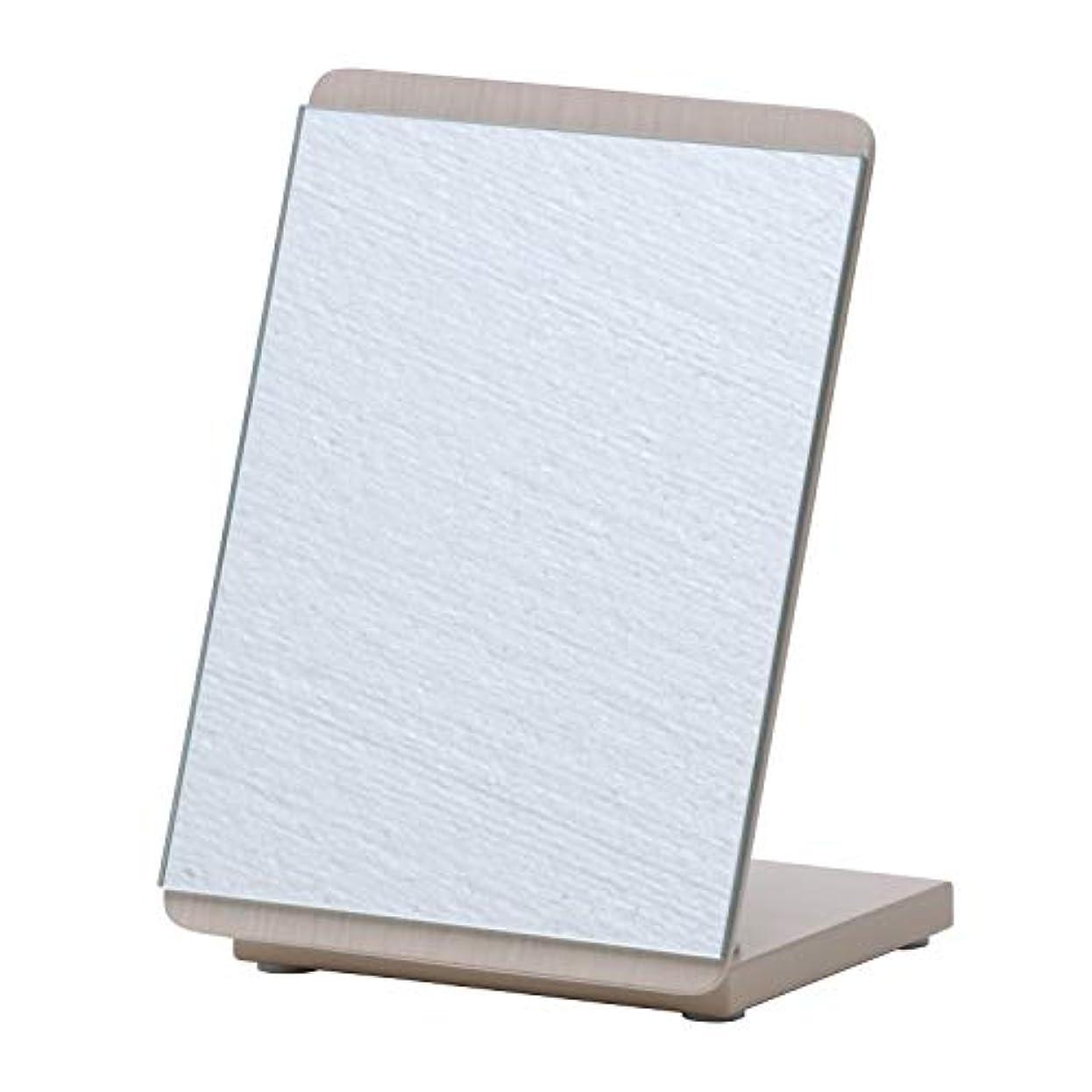 アクセントスイッチ仮定不二貿易(Fujiboeki) ミラー 木彫ホワイトウォッシュ 幅16×高さ22cm カラーミラー 卓上 ロセット 14429