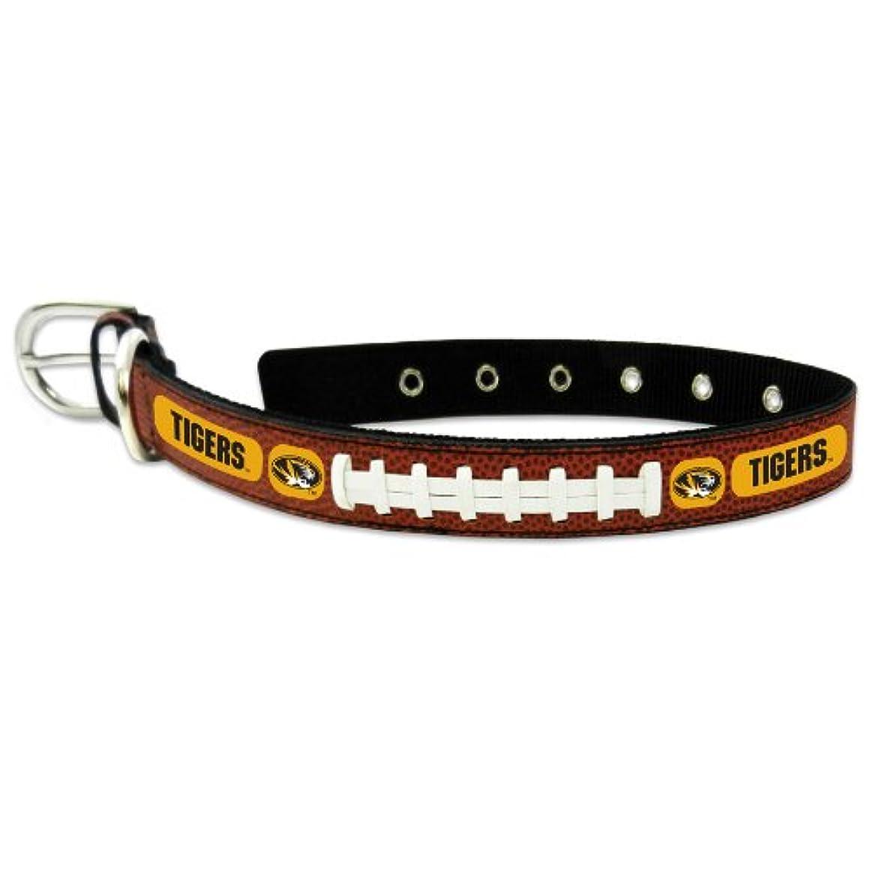 間違いなくトライアスロンマークされたMissouri Tigers Classic Leather Medium Football Collar