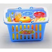 Juna Creation 子供用キッチンブルーバスケットプレイセット