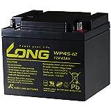 シールド式 《LONGバッテリー WP45-12》 セニアカー バッテリー 12V45AH (HC38-12 NP38-12 12M38 LHM-38-12互換)