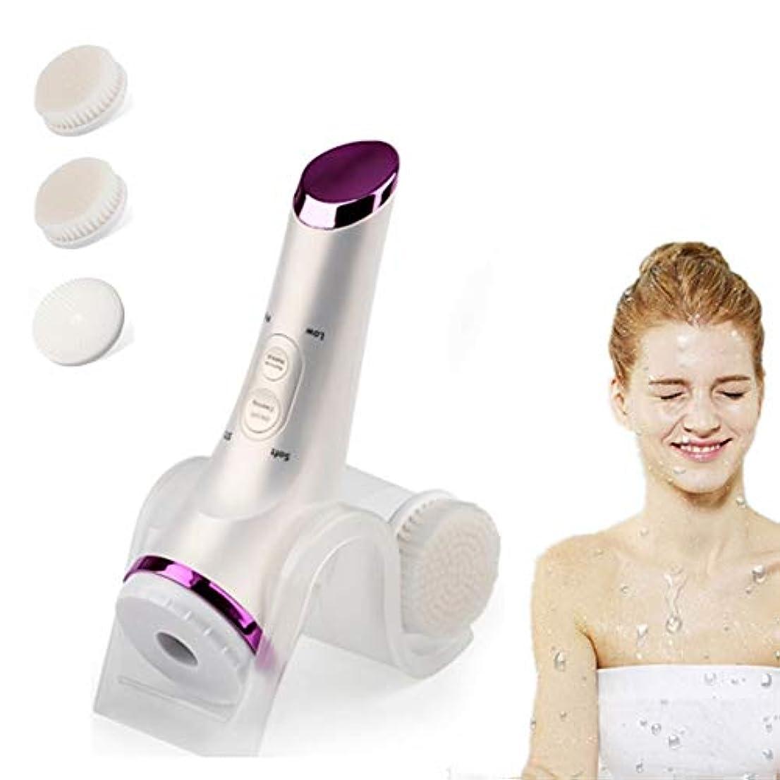 振幅カメラ受動的5つ1つの防水表面ブラシの剥離ブラシセット、にきびの除去オイル制御の電気美顔術の清潔になるブラシの心配の穏やかな剥離及び深い摩擦を白くする顔の表面洗剤