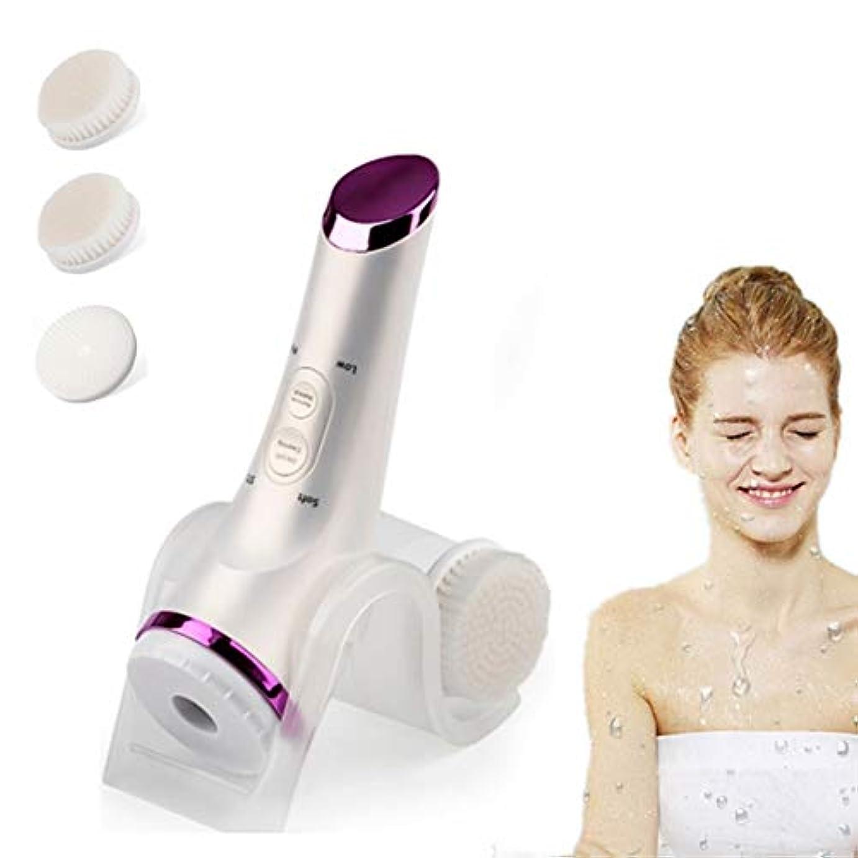 足音かろうじてモード5つ1つの防水表面ブラシの剥離ブラシセット、にきびの除去オイル制御の電気美顔術の清潔になるブラシの心配の穏やかな剥離及び深い摩擦を白くする顔の表面洗剤