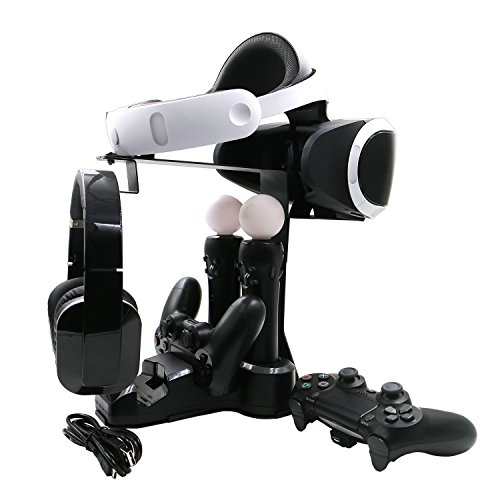 AMZtronics PS4 VR充電 ディスプレイスタンド dualsho...