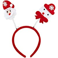Lux Accessories Santa Christmas Holiday Ugly Sweater Party Bopper Headband