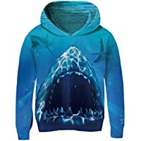 AIDEAONE Unisex Printed Hoodie Realistic 3D Patterns Print Athletic Hooded Pullover Sweatshirt